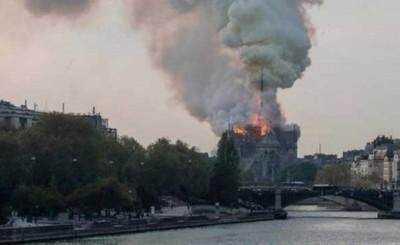 Incendio en histórica catedral de Notre Dame
