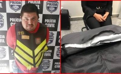Mototaxista y una mujer detenidos con drogas en Brasil