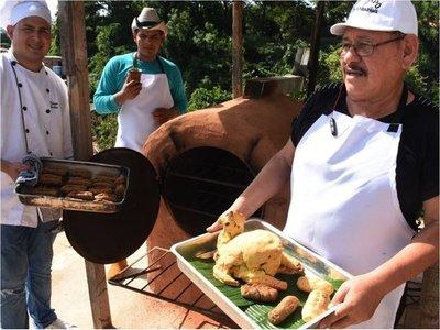 Desde chipa de maní y hasta con gallina preparan en Punta Karapã