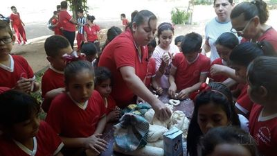 Alumnos aprenden a hacer chipa en San Pedro