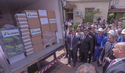 Itaipú dona lote de medicamentos e insumos por valor de G. 4.700 millones