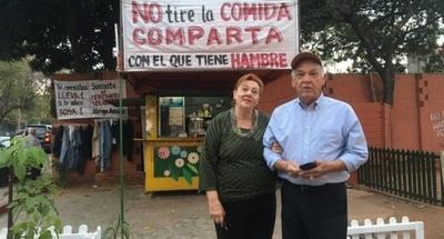 """Habilitan """"kiosko solidario"""" para carenciados durante Semana Santa"""