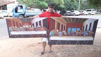 DA VINCI PARAGUAYO. El capo de las pinturas que asombran en Semana Santa