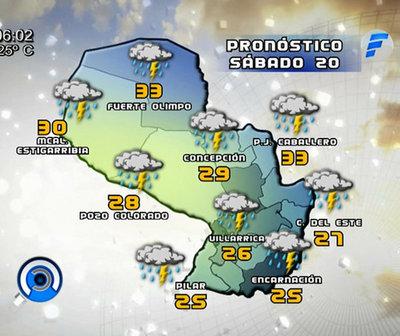 Alta probabilidad de lluvias