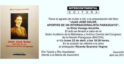 Presentarán obra que recoge aspectos sobresalientes de la vida de Juan José Soler