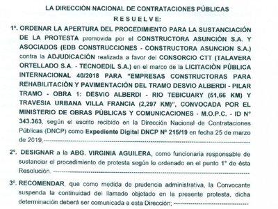 Firma de ex suegro de Marito insiste para adjudicarse ruta Alberdi-Pilar