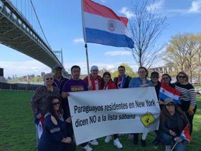 Paraguayos en el extranjero a favor de desbloqueo de listas sábana