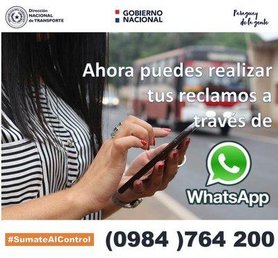 DINATRAN destaca numerosas consultas y denuncias a través del WhatsApp