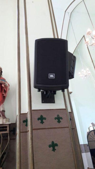 Robaron un parlante de la Catedral de San Lorenzo