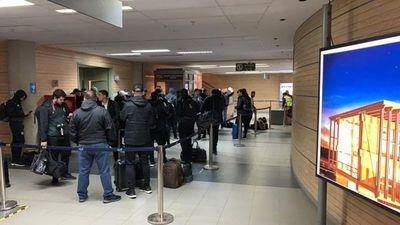 Olimpia estuvo varado en el aeropuerto