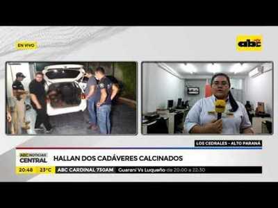 Hallan dos cuerpos calcinados en Alto Paraná