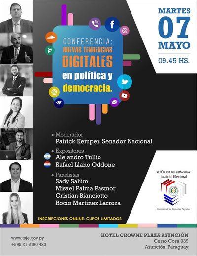 TSJE organiza debate sobre nuevas tendencias digitales en política