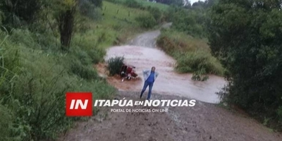 HOY / Lluvia, desborde de un arroyo  y 4 personas arrastradas: niña  de 13 años muere ahogada