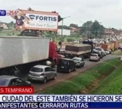 Desbloqueo de listas sábana: Manifestantes cierran ruta en Alto Paraná