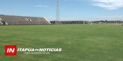 CONSTRUCCIÓN DE ESTADIO DE LA LIGA ENCARNACENA EN ETAPA FINAL.