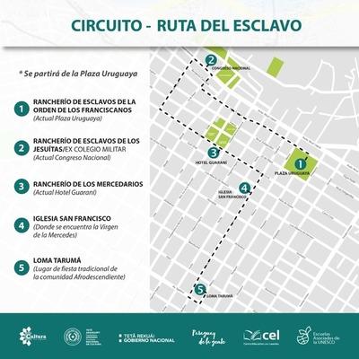 """Invitan al circuito """"La ruta del esclavo"""" a realizarse este sábado en Asunción"""