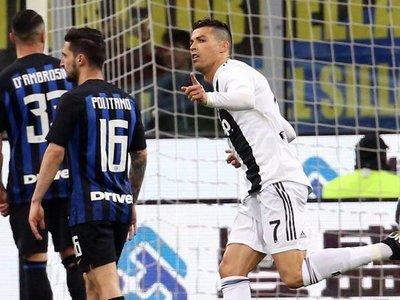 Cristiano Ronaldo marca ante el Inter su gol número 600
