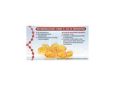 Mal uso de ibuprofeno puede ocasionar trastorno intestinal