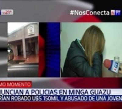 Policía habría robado y abusado de una joven en Minga Guazú