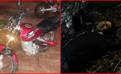 Persecusión termina con un supuesto motochorro detenido