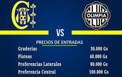Precios para Deportivo Capiatá-Olimpia