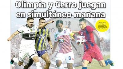 Olimpia y Cerro juegan en simultáneo mañana