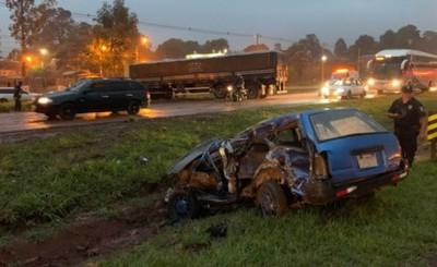 Grave accidente podría dejar a un conductor sin un pie