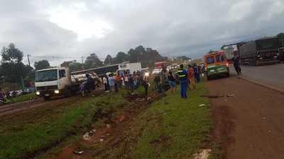 Accidente de tránsito deja un herido grave sobre ruta VII