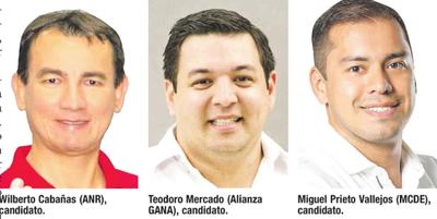 Tres candidatos siguen en disputa por la intendencia