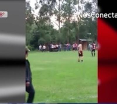 Batalla campal en partido de la Liga Caaguaceña