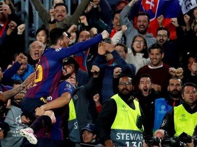 Messi, con un doblete, y Luis Suarez acercan al Barcelona a Madrid