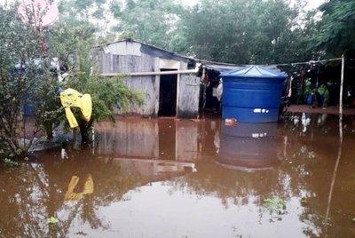 Casas de indígenas del Chaco, inundadas