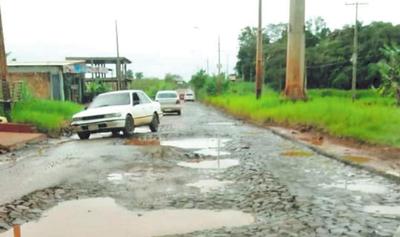 Programa de bacheos no abastece y  las calles siguen calamitosas en CDE