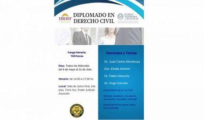 Se inicia Diplomado en Derecho Civil