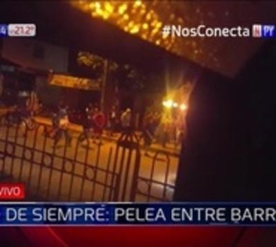 Barras de Cerro y Olimpia se enfrentan a tiros en Capiatá