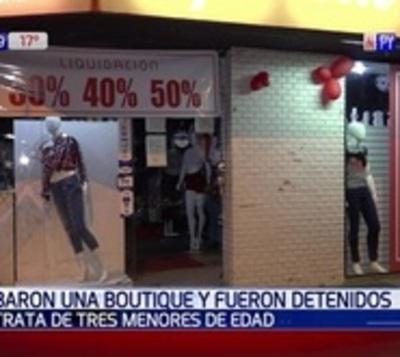 Adolescentes desvalijan una boutique en Asunción