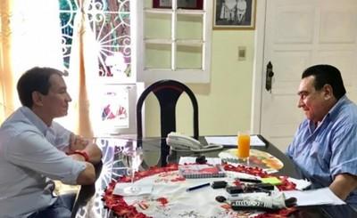 Cabañas visitó a históricos dirigentes colorados