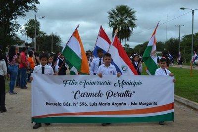 Celebran aniversario del distrito de Carmelo Peralta