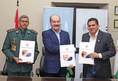 Ministerio de Defensa cede inmueble para construir parque recreativo en Paraguarí