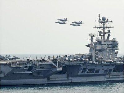 EEUU despliega grupo aeronaval por amenazas de Irán