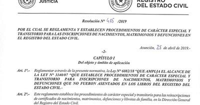 Registro del Estado Civil realiza jornadas masivas de corrección registral