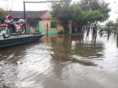 Inundaciones vuelven a azotar al departamento de Ñeembucú