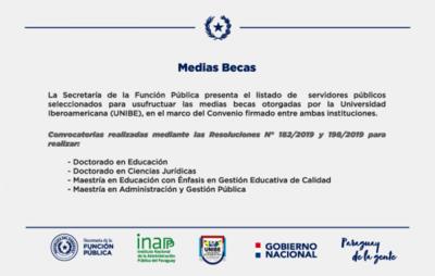 La SFP presenta a los seleccionados para usufructuar las medias becas que otorga la UNIBE