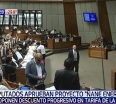 Diputados aprueba 'Ñane Energía' con modificaciones