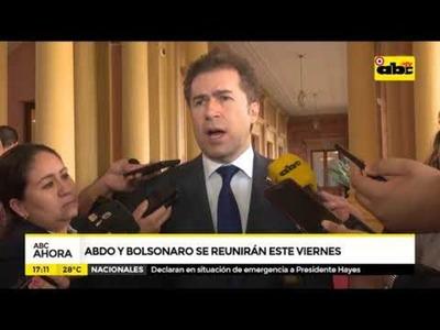 Abdo y Bolsonaro se reunirán este viernes