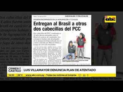 Luis Villamayor denuncia plan de atentado