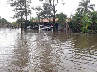 Ñeembucú: varias comunidades están bajo agua y necesitan asistencia
