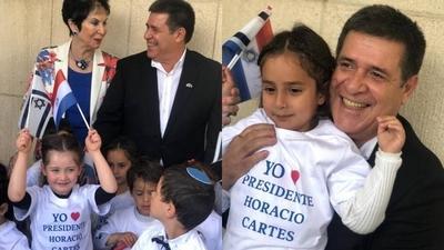 HOY / Organización de mujeres sionistas condecoran a Cartes en Israel