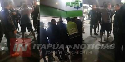 DISTURBIOS EN ENCARNACIÓN Y DUDOSA INTERVENCIÓN POLICIAL