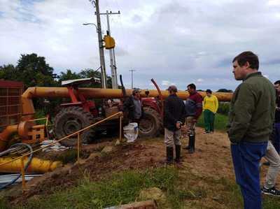 EBY instala 12 motobombas para acelerar desagote en Pilar